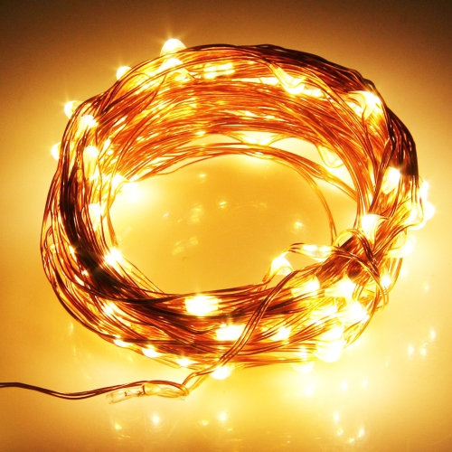 Buy 5m 100 LED SMD 0603 Copper Wire String Decoration Lights / Festival Light, DC 12V (Warm White) for $3.71 in SUNSKY store