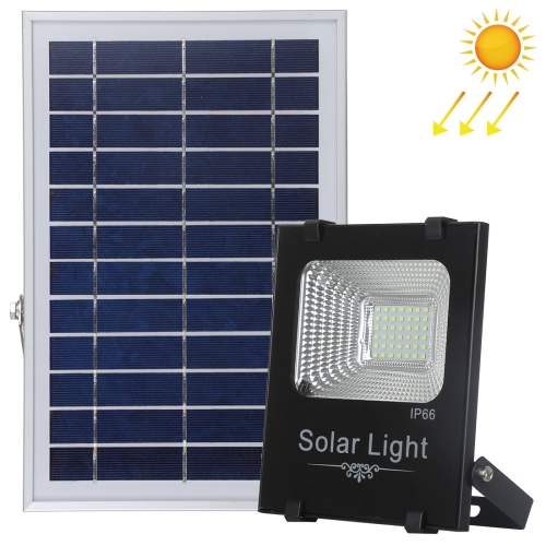 150W 176 LEDs SMD 2835 IP66 Waterproof Ultra-thin Solar Powered Timing LED Flood Light with 6V / 0.83A Solar Panel & Remote Control (White Light)