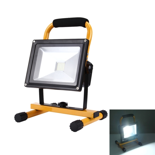 Buy 30W 3800LM High Power IP65 Waterproof 30 LED SMD-3030 Handheld Rechargeable Floodlight Lamp with 1 USB Port, AC 100-240V, (White Light) for $21.98 in SUNSKY store