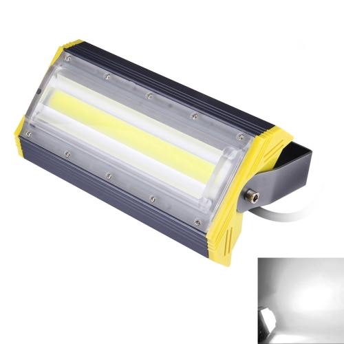 50W 5000LM IP65 Waterproof Aluminum Casing COB LED Linear Floodlight Lamp, AC 85-256V (White Light)