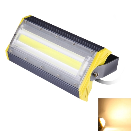 Buy 50W 5000LM IP65 Waterproof Aluminum Casing COB LED Linear Floodlight Lamp, AC 85-256V (Warm White) for $17.91 in SUNSKY store