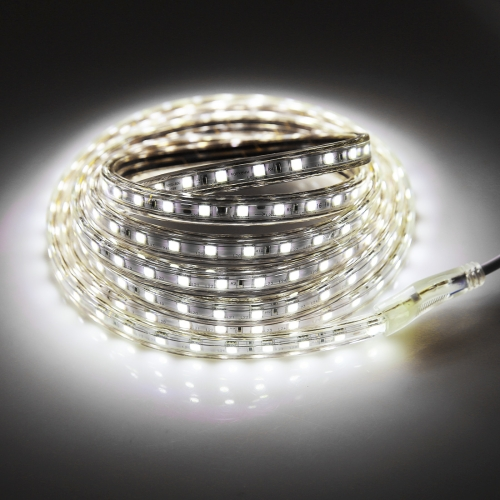 Buy 180 LEDs SMD 5050 Casing IP65 Waterproof LED Light Strip with Power Plug, 60 LED/m, Length: 3m, AC 220V (White Light) for $4.34 in SUNSKY store