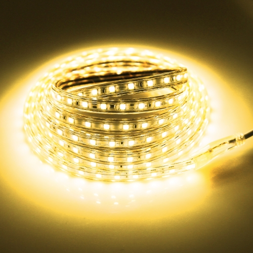 Buy 180 LEDs SMD 5050 Casing IP65 Waterproof LED Light Strip with Power Plug, 60 LED/m, Length: 3m, AC 220V (Warm White) for $4.35 in SUNSKY store