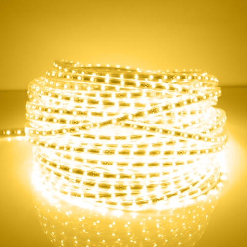 Buy 600 LEDs SMD 5050 Casing IP65 Waterproof LED Light Strip with Power Plug, 60 LED/m, Length: 10m, AC 220V (Warm White) for $12.11 in SUNSKY store