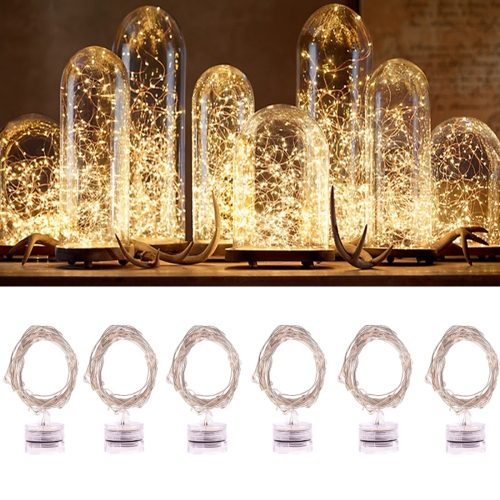 Buy 6 PCS 20 LEDs 2700-2900K Waterproof Copper Wire Starry String Light Rope Fairy Warm White Light For Party / Holiday, Length: 2m, DC 6V for $7.66 in SUNSKY store