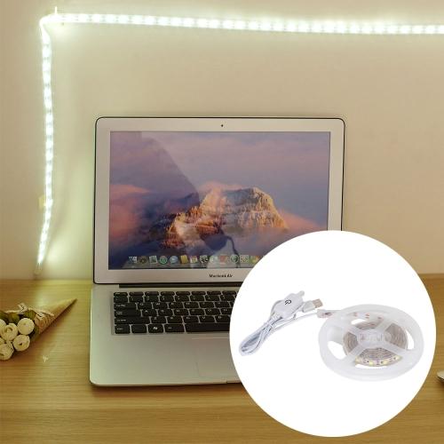 Buy youOKLight YK2272 3W 60 LEDs SMD 5050 USB Touch Sensor Dimmable LED Strip Lamp, Length: 1m, DC 5V (White Light) for $6.35 in SUNSKY store