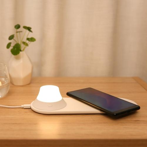 Original Xiaomi Yeelight Wireless Charging LED Night Light, Support Wireless Charging for Mobile Phone(White)