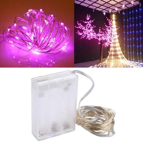 Buy 5m 6W 50 LEDs SMD 0603 IP65 Waterproof 3xAA Batteries Box Silver Wire String Light Fairy Lamp Decorative Light, DC 5V (Pink Light) for $2.00 in SUNSKY store