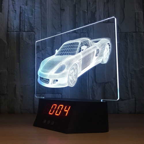 Buy 3W Sports Car 7 Color Discoloration Creative Visual Stereo Lamp 3D Touch Switch Control LED Night Light with Remote Control for $13.31 in SUNSKY store