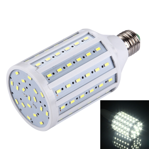 E27 25W 2200LM 90 LED SMD 5730 PC Case Corn Light Bulb, AC 85-265V (White Light)