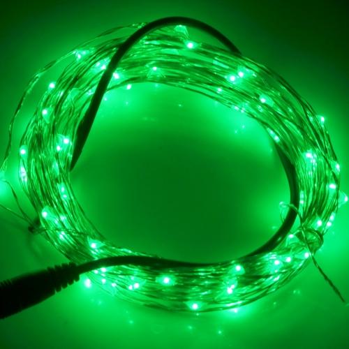 Buy 10m 12V 6W 500LM SMD-0603 LED Silver Wire String Light Festival Lamp / Decoration Light Strip, Green Light for $3.94 in SUNSKY store