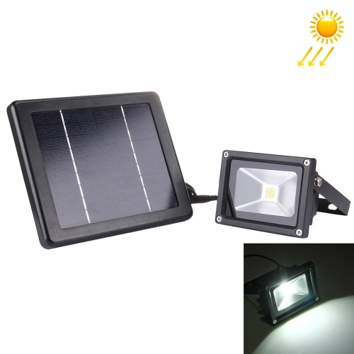 Buy 10W 550-600LM IP65 Waterproof LED Floodlight Lamp with Solar Panel (White Light) for $16.02 in SUNSKY store