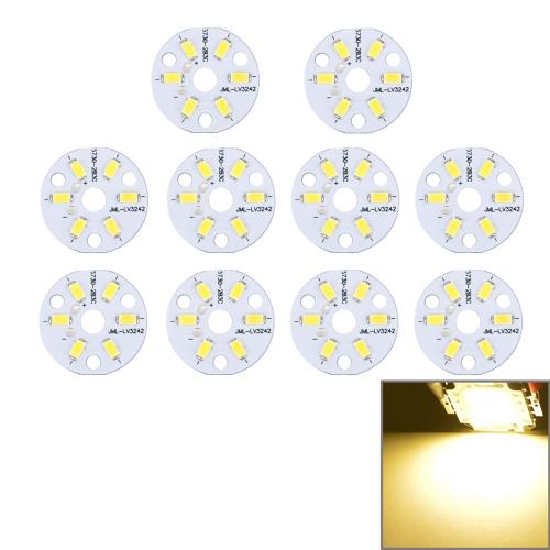 Buy 10 PCS 3W 6 LEDs SMD5730 270 LM 3000-6500K Aluminum Base Light Panel, Diameter: 32mm (Warm White) for $2.42 in SUNSKY store