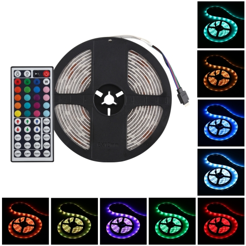 12V SMD 5050 30 LEDs Single Circle Waterproof Safety RGB LED Strip Combo with Remote Control
