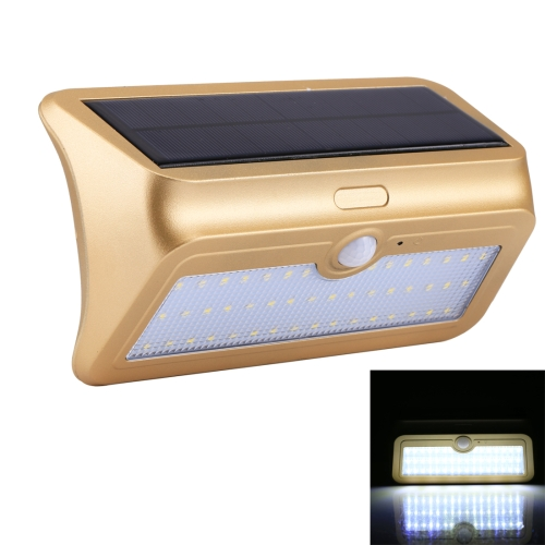 Buy 13.8W 46 LEDs SMD 2835 950LM IP64 Waterproof White Light Outdoor Solar Motion Sensor Light with 5.5V 4.5W Solar Panel, Sensor Distance: about 8m, Gold for $12.60 in SUNSKY store