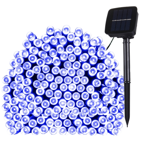 Buy 17m 100 LEDs IP44 Waterproof Solar Panel Fairy Lamp Holiday Decorative Light (Blue Light) for $5.65 in SUNSKY store