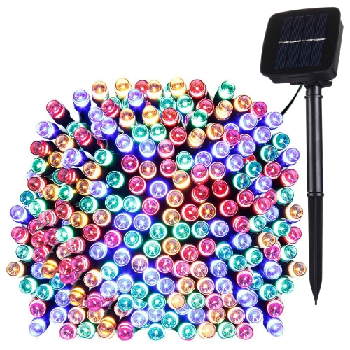 Buy 17m 100 LEDs IP44 Waterproof Solar Panel Fairy Lamp Holiday Decorative Light (Colorful Light) for $5.65 in SUNSKY store
