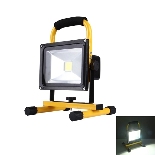 Buy 20W 1800LM IP65 Waterproof LED Rechargeable Handheld Floodlight Lamp, AC 100-250V (White Light) for $13.92 in SUNSKY store