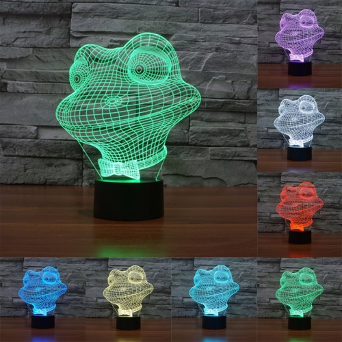 Buy Frog Style 7 Colour Discoloration Creative Visual Stereo Lamp 3D Touch Switch Control LED Light Desk Lamp Night Light for $7.88 in SUNSKY store