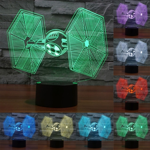 Buy TIE Fighter Style 7 Colour Discoloration Creative Visual Stereo Lamp 3D Touch Switch Control LED Light Desk Lamp Night Light for $8.27 in SUNSKY store