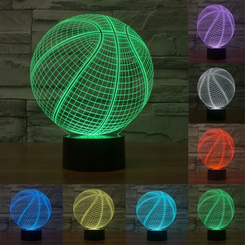 Buy Basketball Style 7 Colour Discoloration Creative Visual Stereo Lamp 3D Touch Switch Control LED Light Desk Lamp Night Light for $7.88 in SUNSKY store