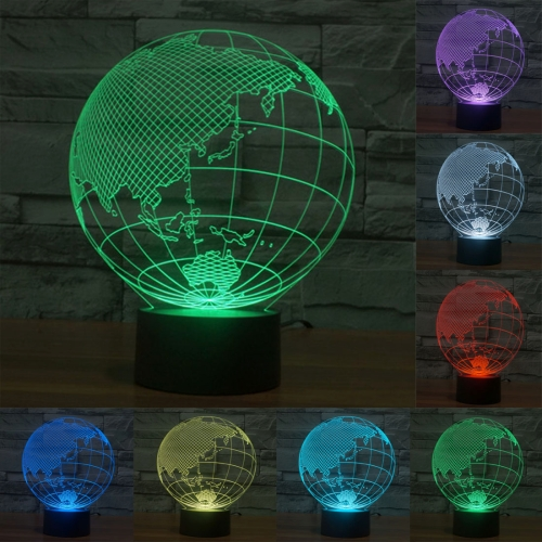 Buy Asia Style 7 Colour Discoloration Creative Visual Stereo Lamp 3D Touch Switch Control LED Light Desk Lamp Night Light for $7.88 in SUNSKY store