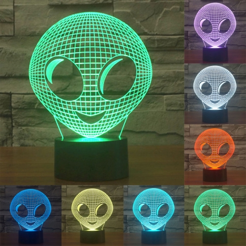Buy Alien Style 7 Colour Discoloration Creative Visual Stereo Lamp 3D Touch Switch Control LED Light Desk Lamp Night Light for $7.88 in SUNSKY store