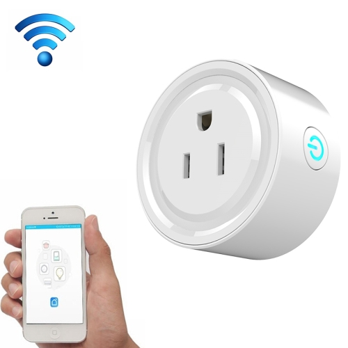 Buy 10A Round Shape WiFi Mini Plug APP Remote Control Timing Smart Socket Works with Alexa & Google Home, AC 100-240V, US Plug for $10.58 in SUNSKY store