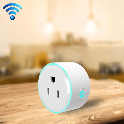 Buy 10A Round Shape WiFi 2.4GHz Mini Plug APP Remote Control Timing Smart Socket Works with Alexa & Google Home & Colorful Breathing Light, AC 100-240V, US Plug for $11.76 in SUNSKY store