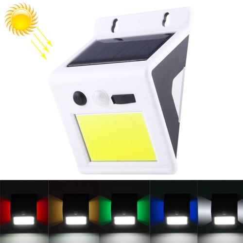 Buy 4W COB 24 LEDs 180 LM 6500K Solar Power Light Rechargeable PIR Motion Sensor White Light LED Wall Lamp Security Light with Colorful Backlight, DC 5V for $9.72 in SUNSKY store