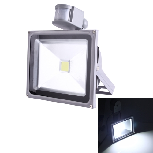 Buy 50W 1 LED 5000-5500LM IP65 Waterproof Backpack Style LED PIR Motion Sensor Outdoor Floodlight Lamp, AC 110-260V (White Light) for $13.56 in SUNSKY store