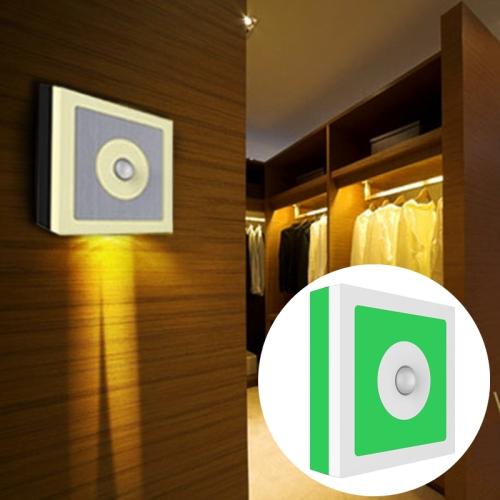 Buy 6 LEDs 45 LM USB Charging 2 Modes White Light or Warm White Light CDS + PIR Human Body Motion Sensor Square Shape LED Night Light with Holder, Sensor Distance: 3-6m (Green+White) for $11.83 in SUNSKY store