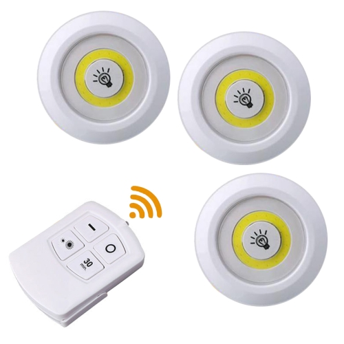 5W 3 x COB Night Light LED Wall Lamp with Remote Control