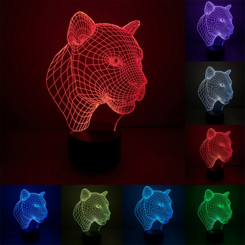 Buy Leopard Style 7 Colour Discoloration Creative Visual Stereo Lamp 3D Touch Switch Control LED Light Desk Lamp Night Light for $7.79 in SUNSKY store