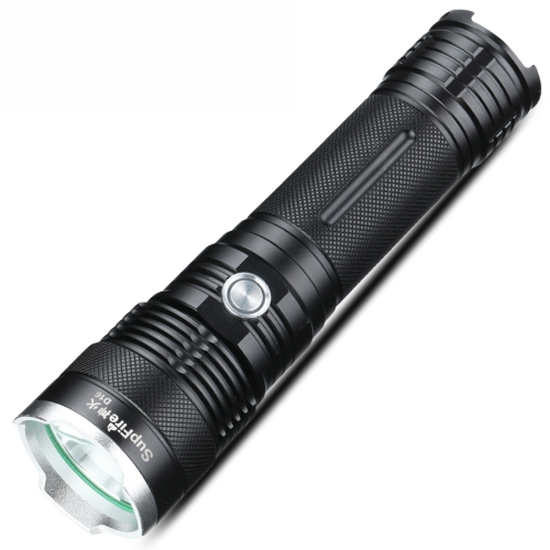 SupFire D16 10W CREE XML2-U2 Strong LED Flashlight, 1100 LM Water Resistant with Strong / Middle / Low / Strobe / SOS Modes