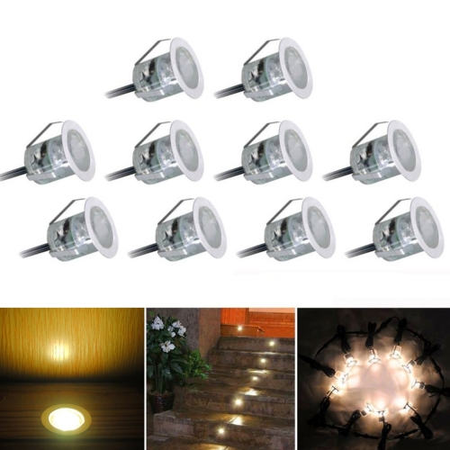 Buy YWXLIGHT 10 PCS 6W SMD 2835 500-600LM 2800-3200K Deck Light Buried Lamps Recessed Stair Underground Lamp LED Floor Light Wall Spotlight (Warm White) for $26.03 in SUNSKY store