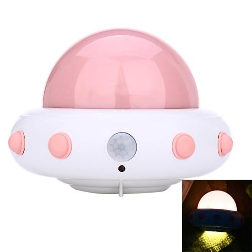 Buy YouOKLight YK2231 1W 5 LEDs USB Charging White Light Flying Saucer UFO Shaped LED Night Light Motion Sensor Lamp for Kids Nursery Bedroom, DC 5V, Pink for $7.44 in SUNSKY store