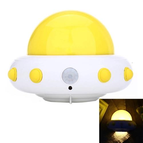 Buy YouOKLight YK2231 1W 5 LEDs USB Charging White Light Flying Saucer UFO Shaped LED Night Light Motion Sensor Lamp for Kids Nursery Bedroom, DC 5V, Yellow for $7.44 in SUNSKY store