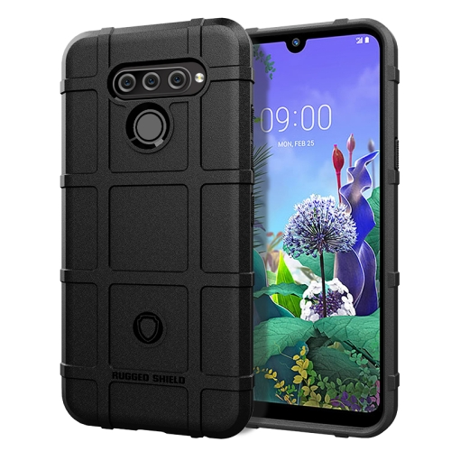 Shockproof Protector Cover Full Coverage Silicone Case for LG Q60 (Black)