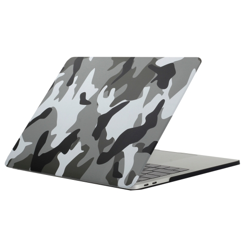 For 2016 New Macbook Pro 13.3 inch A1706 & A1708 Grey Camouflage Pattern Laptop Water Decals PC Protective Case