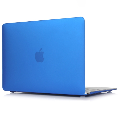 Laptop Matte Style Protective Case for MacBook Air 13.3 inch A1932 (2018)(Dark Blue)