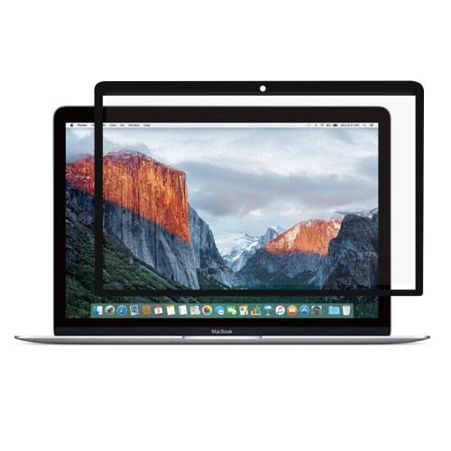 0.3mm 6H Surface Hardness HD Scratch-proof Full Screen PET Film for MacBook Retina 12 inch (A1534) (Black)