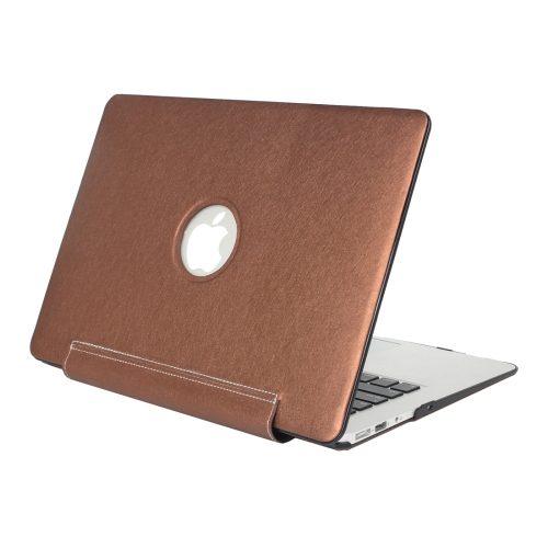 Buy For Macbook Air 11.6 inch Silk Texture Apple Laptop United PU Protective Case, Coffee for $9.25 in SUNSKY store