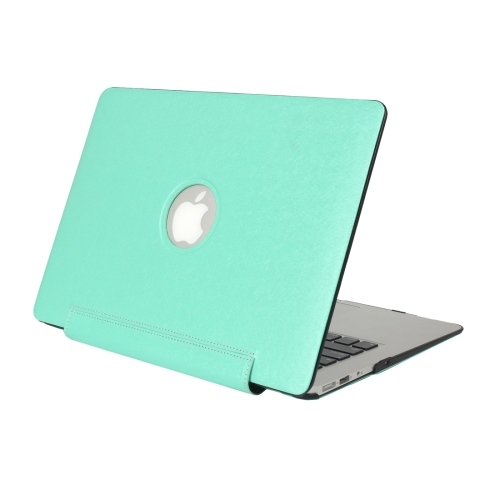 For Macbook Air 11.6 inch Silk Texture Apple Laptop United PU Protective Case, Green