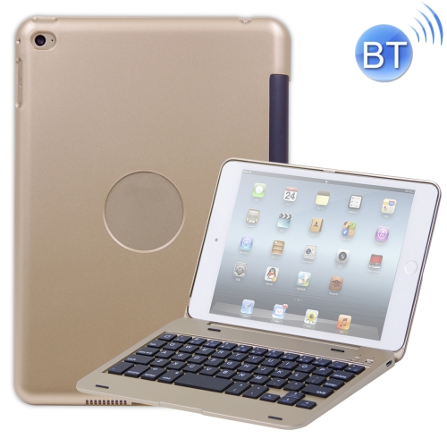 F1+ For iPad mini 5 / 4 Laptop Version Plastic Bluetooth Keyboard Protective Cover(Gold)