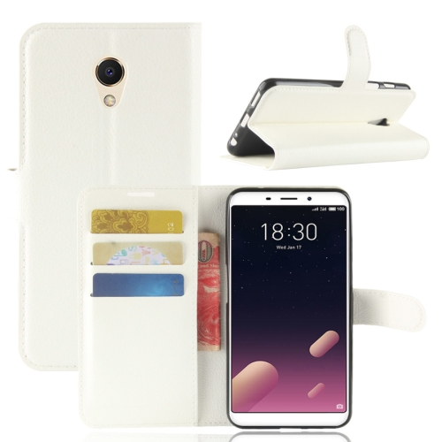 Buy Meizu Meilan M6s PU + TPU Litchi Texture Horizontal Flip Leather Case with Wallet & Holder & Card Slots, White for $2.43 in SUNSKY store