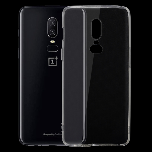 For OnePlus 6 Ultra-thin 0.75mm Transparent TPU Protective Case(Transparent)