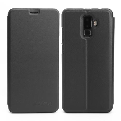 OCUBE Leagoo M9 (MPH1992) Spring Texture Horizontal Flip Leather Case with Holder(Black)