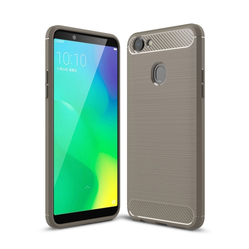 Buy OPPO A79 Brushed Texture Carbon Fiber Shockproof TPU Rugged Armor Protective Case, Grey for $2.00 in SUNSKY store