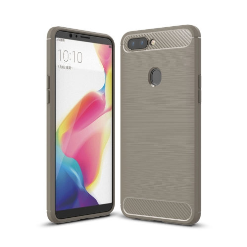 Buy OPPO R11s Plus Brushed Texture Carbon Fiber Shockproof TPU Rugged Armor Protective Case, Grey for $2.00 in SUNSKY store